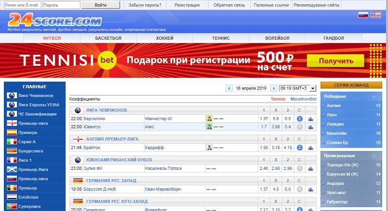 24score. com. футбол- испании лига ббва