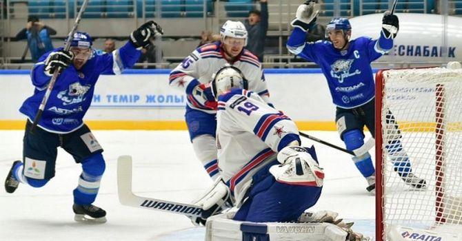 СКА победил навыезде «Барыс», выиграв 15-й матч подряд вчемпионате КХЛ