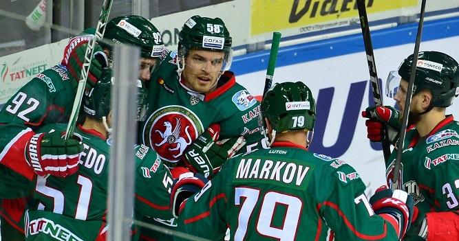 «АкБарс» одержал волевую победу над «Сибирью» вматче чемпионата КХЛ