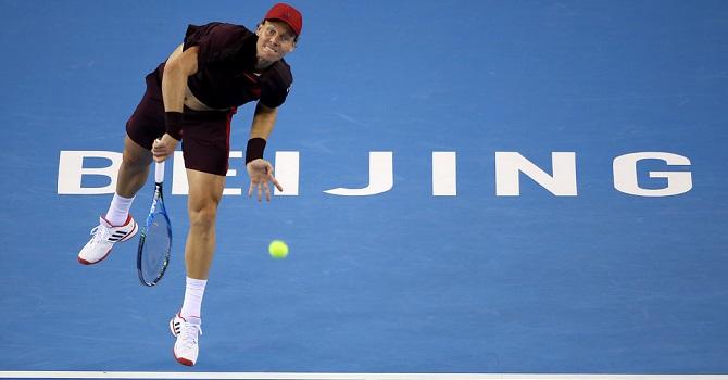 Теннисист Рублев обыграл Бердыха ивышел вчетвертьфинал турнира встолице Китая