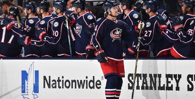 Голевые пасы Панарина помогли «Коламбусу» разгромить «Айлендерс» вматче НХЛ