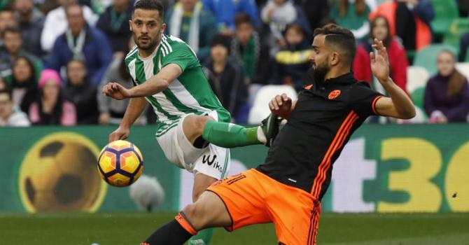 «Бетис» и«Валенсия» забили девять мячей вматче чемпионата Испании пофутболу