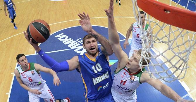 «Химки» переиграли «Астану» вматче Единой лиги ВТБ побаскетболу