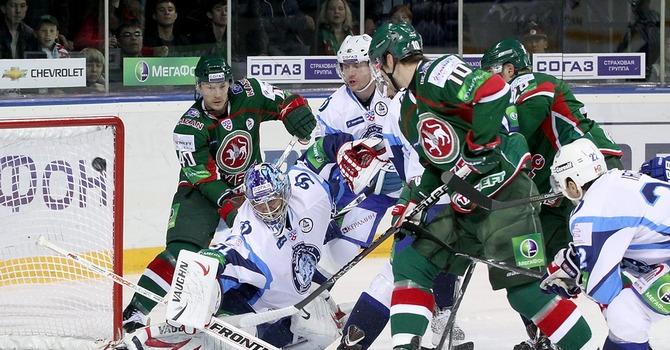 Хоккеисты минского «Динамо» разгромили казанский «АкБарс»