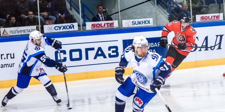 Минское «Динамо» проиграло хабаровскому «Амуру» и почти лишилось шансов наплей-офф