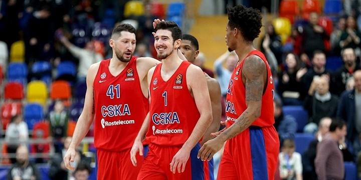 Баскетболисты московского ЦСКА преждевременно выиграли вЕвролиге