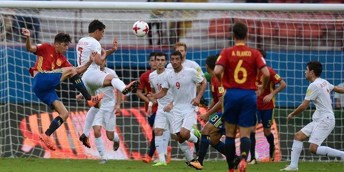 Молодежные сборные футбол франция- испания